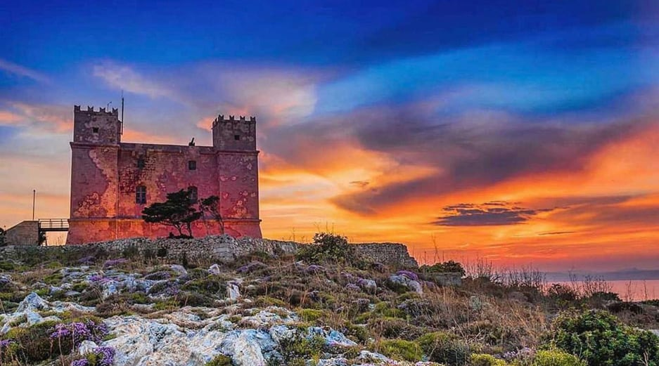 Sunset Malta - Red Tower