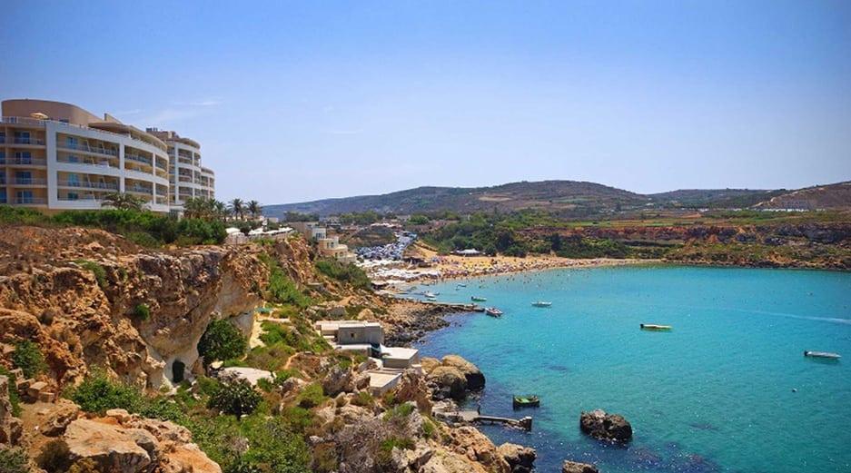 Malta beaches - Golden Bay
