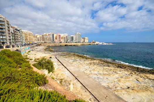 Qui-Si-Sana Bay, Sliema, Malta